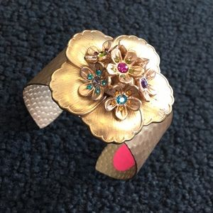 Jewelry - Gold Flower Cuff Bracelet